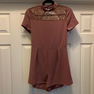 Wet Seal Purple romper with open back L NWT